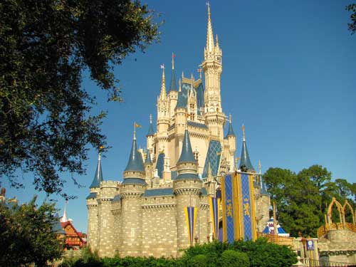 Vista del castillo de Magic Kingdom, Orlando - Florida