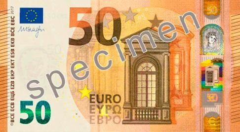 Anverso nuevo billete de 50 Euros