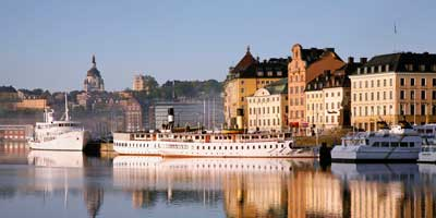 Vista del barrio Gamla Stan - Estocolmo, Suecia