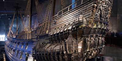 Barco Vasa dentro del museo donde se exhibe - Estocolmo, Suecia