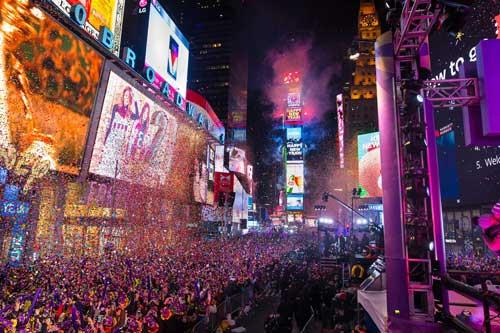 Fiesta de Fin de Año en Times Square, Nueva York