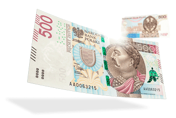 New 500 Polish Zlotys banknote