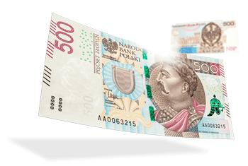 Nuevo billete de 500 Zlotys Polacos
