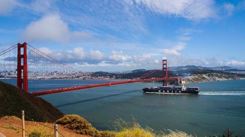 Vistas del puente Golden Gate, San Francisco, California