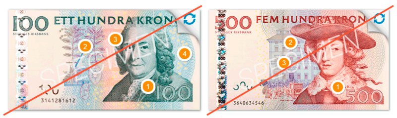 Banknotes out of circulation