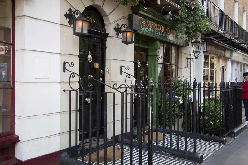 Entrada al museo de Sherlock Holmes, Londres