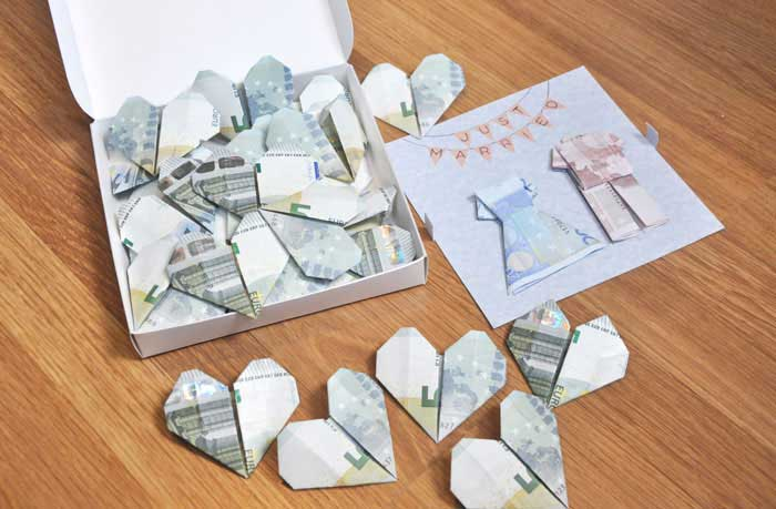 Hearts Made With Banknotes