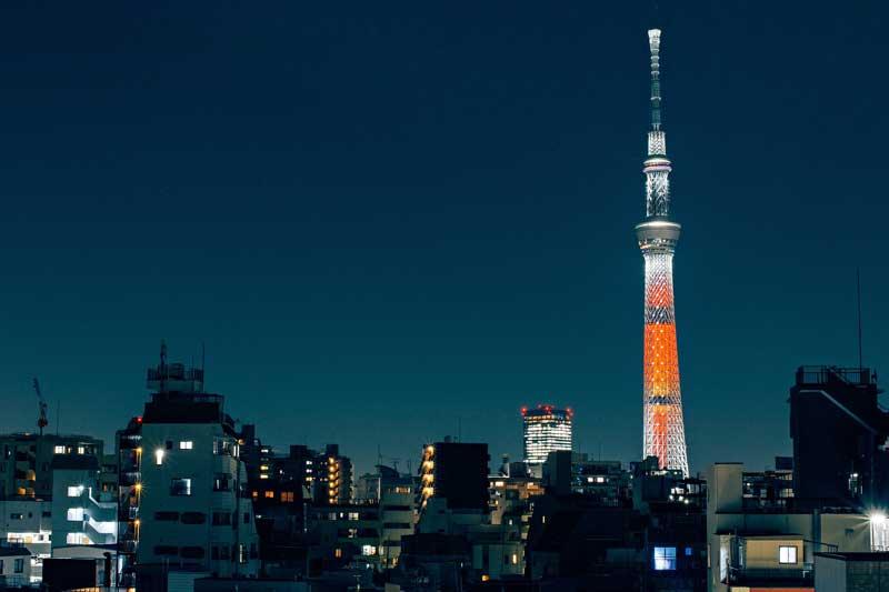 Torre Skytree por la noche