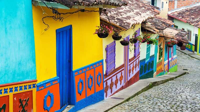 Casa coloridas en Bogotá, Colombia