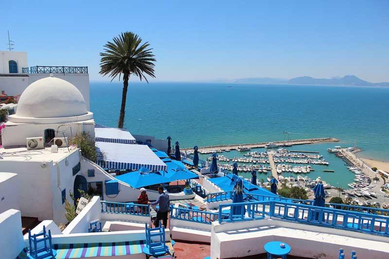 Típicas casas blancas en Túnez
