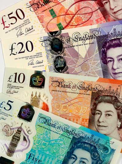 Billetes De Libras En Circulación