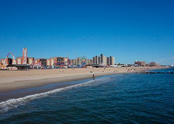 Coney Island beach view, Nuew York