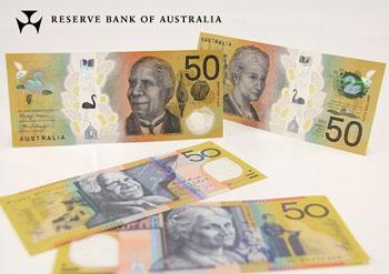 Billete nuevo de 50 Dólares Australianos