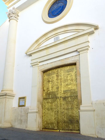 Door og the Church of San Jaime and Santa Ana - Benidorm
