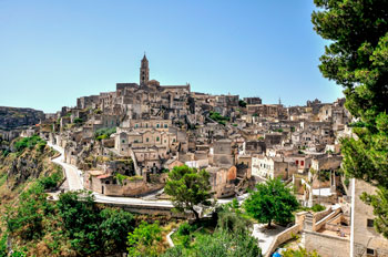 Old Town of Matera in Italy