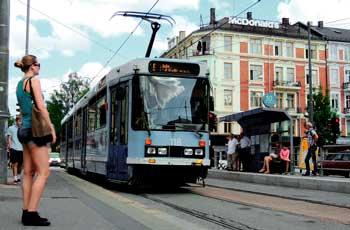 Tranvía en Oslo, Noruega