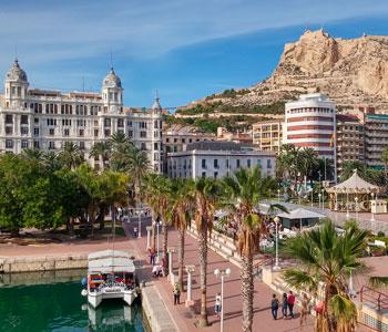 Port of Alicante and Santa Barbara Castle