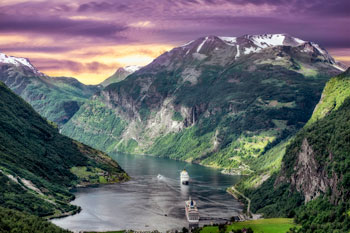 Cruise on the Norwegian Fjords, Norway