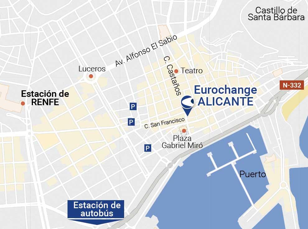 Donde cambiar moneda en Alicante