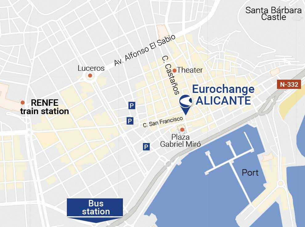 Currency exchange in Alicante