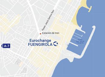 Ubicación oficina de cambio de moneda en Fuengirola