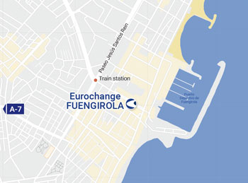 Location of the currency exchange office in Fuengirola