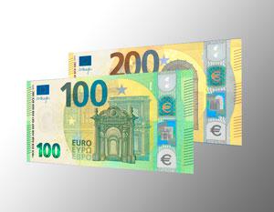 Imagen de los nuevos billetes de euro