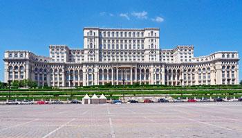 Palacio del Parlamento en Bucarest, Rumanía