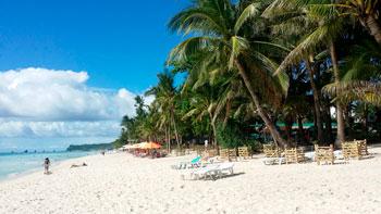 Playa de Boracay en Filipinas