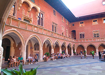 Courtyard of the Jagiellonian University of Krakow