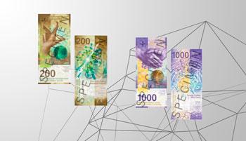 Nuevos billetes de Francos Suizos en circulación