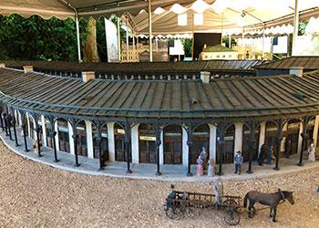 Recreación de edificios en el Parque en Miniatura de Varsovia