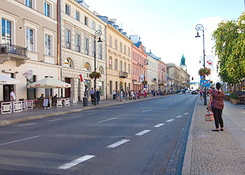 First part of the Royal Route in Warsaw