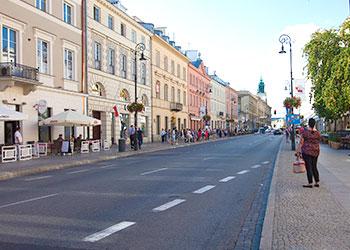 Primer tramo de la Ruta Real en Varsovia