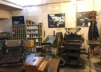 Clandestine printing, Uprising Museum, Warsaw