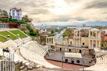 Antiguo teatro de Philippopolis en Plovdiv, Bulgaria
