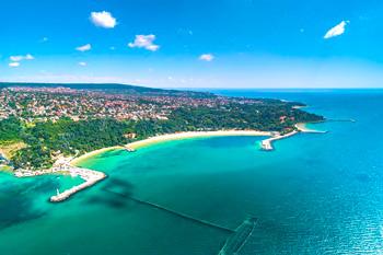 Beaches in Varna in the Black Sea