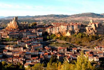 Panoramic view of Frías, Burgos