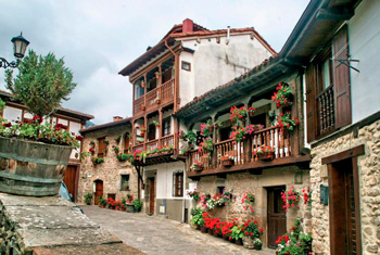 Houses in Potes, Cantabria