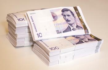 Billete de 1000 Coronas Noruegas que será retirado