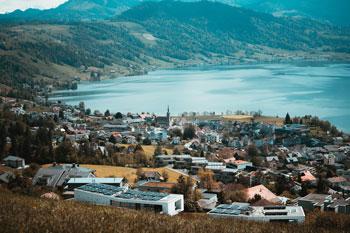 Vista del Lago Ägeri, Suiza