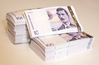 Note of 1000 Norwegian Kroner that will be withdrawn