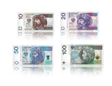 Billetes de Zlotys Polacos PLN