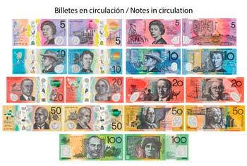 Billetes en circulación de Dólar Australiano