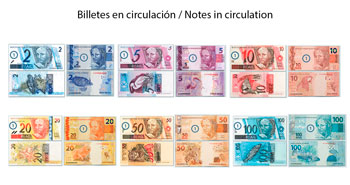 Banknotes of Brazilian Real in circulation