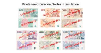 Billetes en circulación de Corona Checa