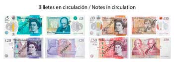 Sterling Pounds notes in circulation
