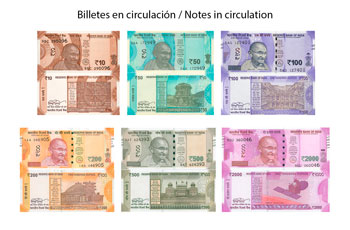 Banknotes in circulation of Indian Rupee