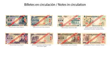 Billetes actuales de Yen Japonés en circulación