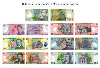 Romanian Leu banknotes in circulation